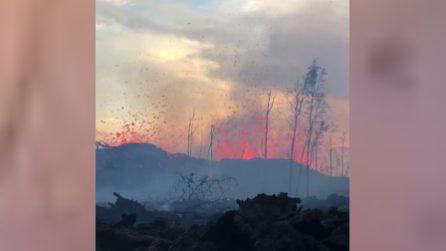 VulcanoKilauea, le impressionanti immagini delle fontane di lava