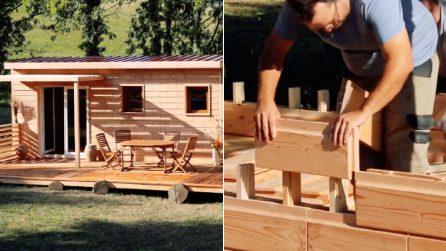 Solo 48 ore per costruire questa casa. Il segreto? Mattoni di legno che si incastrano come i LEGO