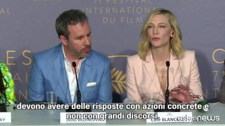 """Cannes 2018, Cate Blanchett: """"Serve cambiamento profondo di mentalità nel mondo dello spettacolo"""""""