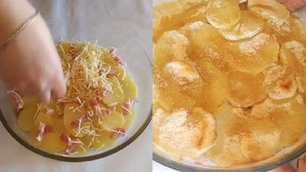 Patate al forno con ripieno saporito: un contorno pronto in pochi minuti