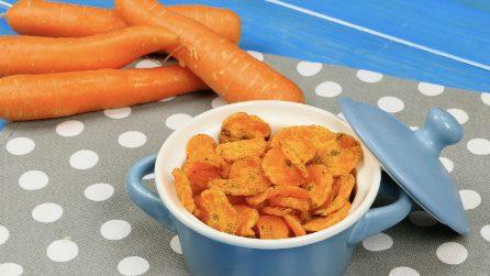 Chips di carote al microonde