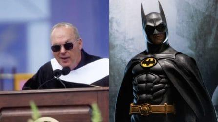 """Sono Batman"": Michael Keaton lo rivela ai neolaureandi"