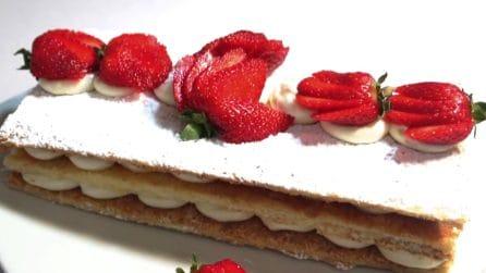 Millefoglie con fragole: la ricetta per un dessert da leccarsi i baffi