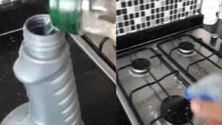 Pulire piano cottura e mattonelle con un unico prodotto: ecco come prepararlo