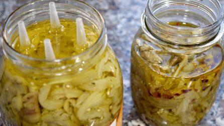 Come preparare saporite melanzane sott'olio in casa