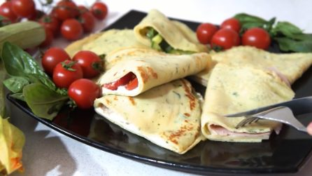 Crepes salate al basilico: un'idea squisita e veloce
