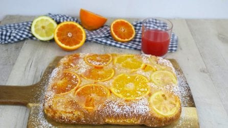 Orange cake: just pour a glass of orange juice into the batter!