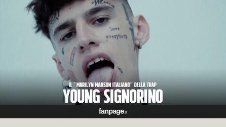 """Chi è Young Signorino, il trapper che si definisce il """"Marilyn Manson italiano"""""""