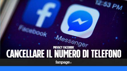 Come togliere il numero di telefono da Facebook Messenger