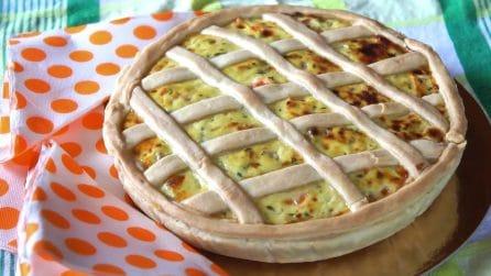 Crostata salata con ricotta: semplice e saporita