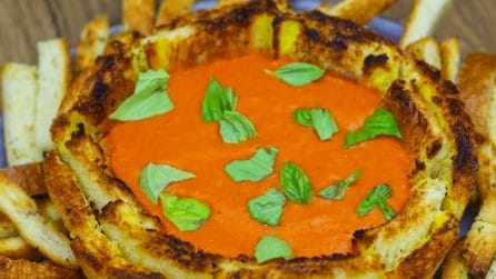 Grilled Cheese And Tomato Soup Bowl