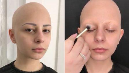 Affetta da alopecia si fa truccare per realizzare il suo sogno: la trasformazione è straordinaria