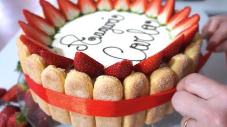 Semifreddo alle fragole senza cottura: una torta di compleanno perfetta