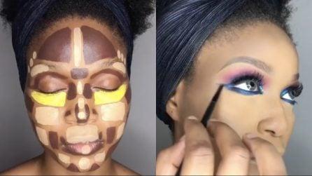 Realizza un makeup da urlo con un contouring molto particolare: l'incredibile trasformazione