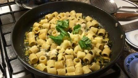 Tubettoni zucchine e scamorza: un primo piatto veloce e squisito