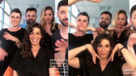 Giulia Michelini si scatena prima della puntata: il divertente balletto nel backstage di Amici