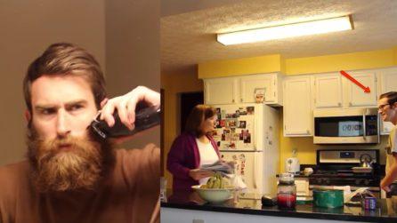 Non taglia la barba da anni: poi si rade, provocando la strana reazione della madre