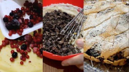 Crostata frutti di bosco, cioccolato e ricotta: una combinazione deliziosa