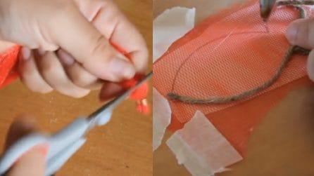 Come riciclare le retine della frutta: un metodo molto creativo
