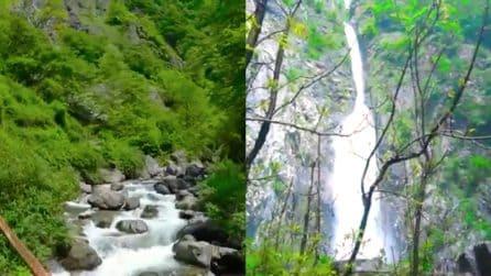 Un paesaggio da non credere: la cascata segreta a un'ora da Milano