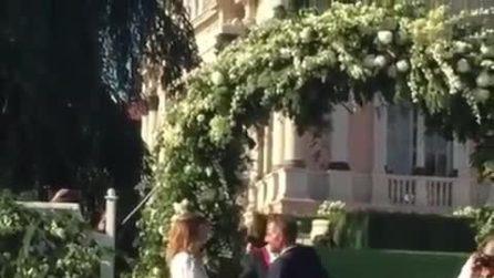 Matrimonio Daniele Bossari e Filippa Lagerback, il momento del sì