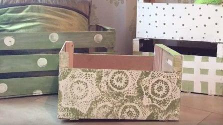 Come trasformare le cassette della frutta in bellissimi oggetti d'arredo