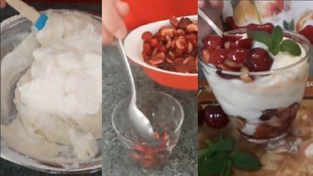 Mousse di ricotta con ciliegie: un dessert veloce e delizioso