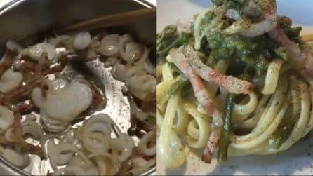 Carbonara di asparagi: un primo piatto da leccarsi i baffi