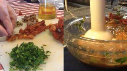 Salsa con pomodori secchi: un condimento squisito e pronto in pochi minuti