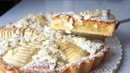 Crostata con crema frangipane e pere: un'esplosione di gusto al primo morso