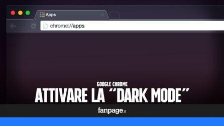 """Su Google Chrome puoi già attivare la """"Dark Mode"""": ecco come fare"""
