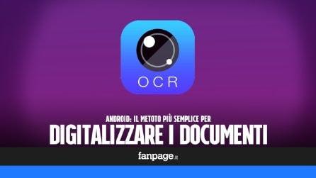 Con il tuo smartphone Android, potrai digitalizzare i documenti cartacei in pochi istanti