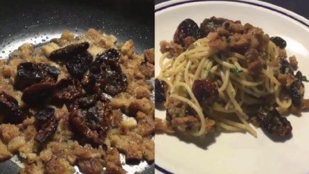 Spaghetti con pomodori secchi e salsa di pane: il primo piatto che ti stupirà