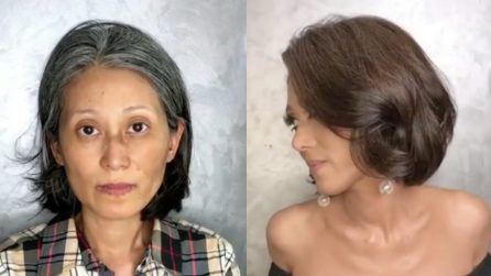 Si presenta dalla make up artist per una trasformazione: il risultato è incredibile