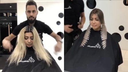 Vuole rifare il look: l'hair stylist la trasforma incredibilmente