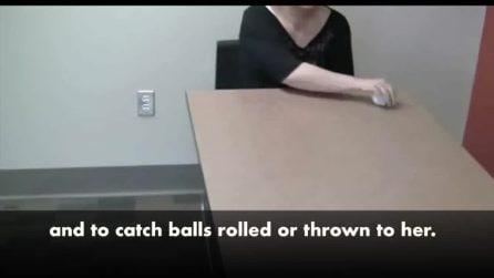 La donna cieca che vede gli oggetti in movimento