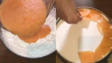 Cheesecake melone e yogurt: una torta senza cottura da leccarsi i baffi