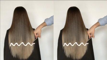 Le taglia i capelli a zig-zag: il suo look si trasforma radicalmente