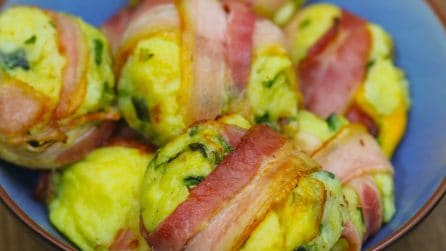 Potato and bacon bombs
