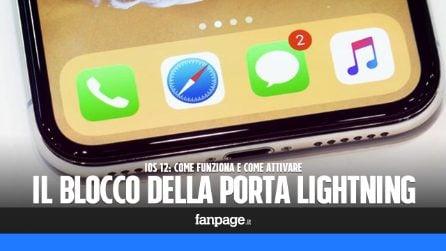 Trucchi iPhone: attivare la protezione che blocca la porta Lightning (contro la polizia)