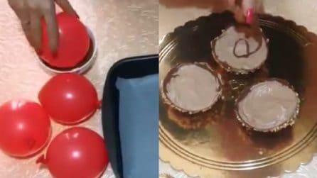 Coppette al cioccolato con panna: i più piccoli ne andranno matti