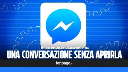"""Con questo trucco di Messenger, puoi segnare come """"letta"""" una conversazione senza aprirla"""