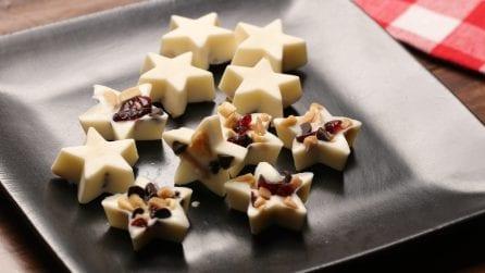 """Cioccolatini """"stellati"""" e golosissimi: ecco come prepararli in pochi minuti"""