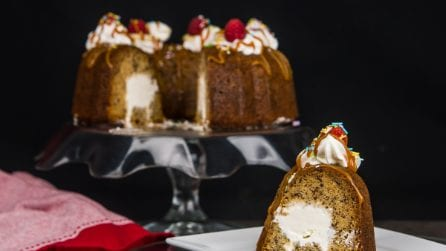 Stuffed Banana Split Cake