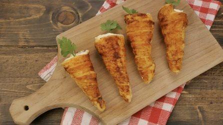 Carote di pasta sfoglie: un antipasto simpatico e originale!