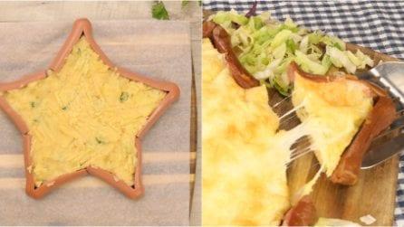 Stella di würstel e patate: l'idea super originale per una cena tra amici!