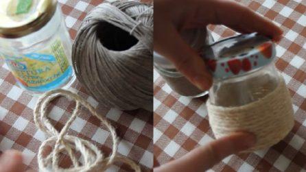 Come riciclare i barattoli di vetro: l'idea creativa da rifare