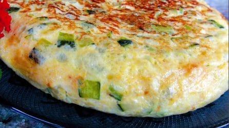 Tortilla di zucchine: pochi ingredienti per un piatto che farà impazzire tutti
