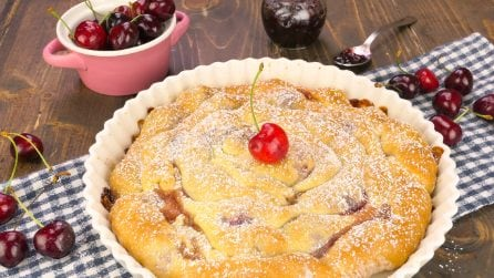 Soft cherry pie: Soft and tasty!