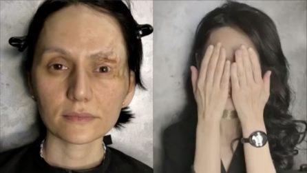 Sogna di vedersi bella per una volta: la make up artist realizza il suo desiderio